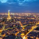 Paris at night.