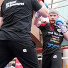 Ready: Paddy Gallagher in yesterday's public workout in Belfast. Photo: Jonathan Porter/Presseye