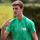In form: Peter Corrie is through to the last 32 in the European Under-18 Championships