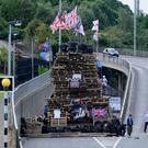 Last year's bonfire at the Lecky Road flyover