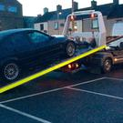 Banbridge police seized the car.