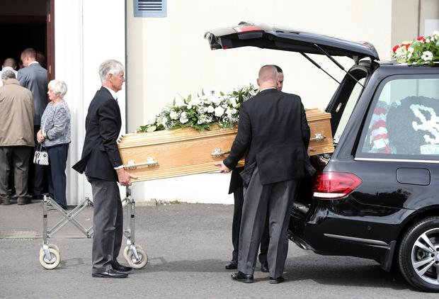 Hundreds of mourners gathered together at Carnmoney Presbyterian Church for a funeral service for barber, Dean McIlwaine, who was found on Saturday after widespread searches.