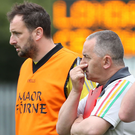 Stark warning: Carlow boss Steven Poacher (left) says Monaghan will have the edge. Photo: Gerry McManus/INPHO