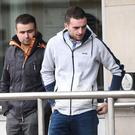 Shane Ward (left) and Charles Ward at Newtownards Magistrates' Court