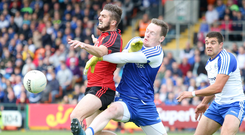 Familiar foes: Down's Connaire Harrison and Monaghan's Rory Beggan are ready to renew rivalry at Croke Park