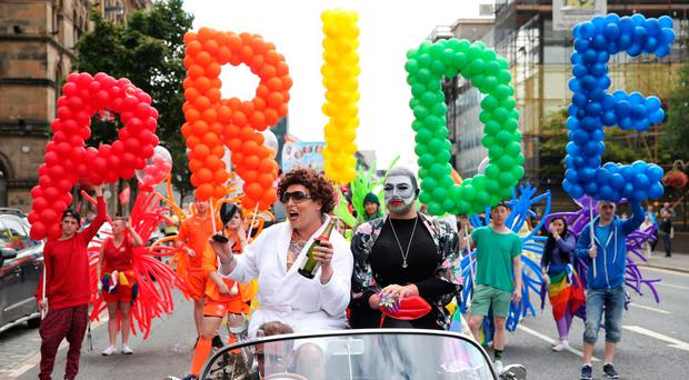 Last year's Gay Pride event in Belfast city centre