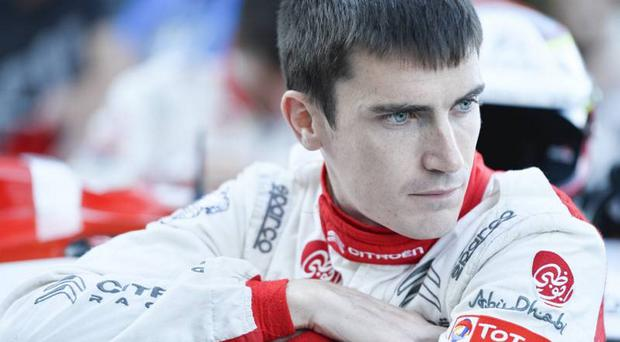 Going fourth: Craig Breen is leading Citroen's fight for a podium finish against the home challenge in Finland