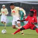 Forward thinking: Right To Dream's Mohammed Kudus takes on Club America's Chavez Diego Roberto Carlos