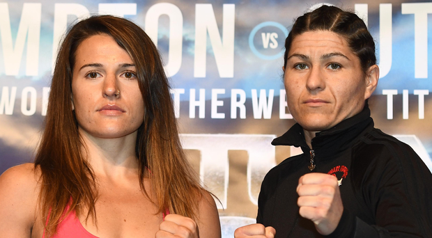 Big plans: Chantelle Cameron, left, at yesterday's weigh-in