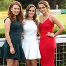Niamh Bradley, Maria Mulholland and Kathryn Farmer pictured at the Magners Race Evening at Down Royal Racecourse