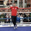 Carl Frampton during a public work out at Victoria Square, Pacemaker Press
