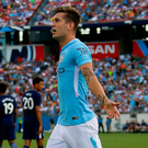 Manchester City's John Stones celebrates after scoring a goal against Tottenham at the Nissan Stadium in Tennessee. Photo: Frederick Breedon/Getty Images