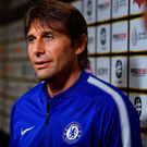 Chelsea manager Antonio Conte talks to the press. Photo: Getty Images