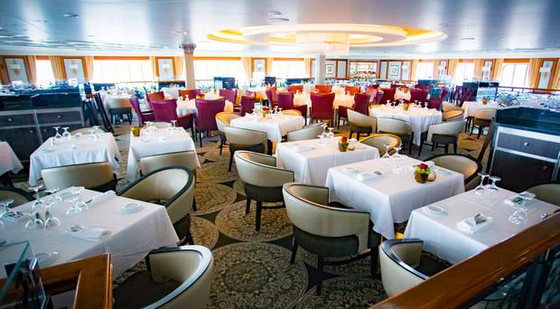 Belfast Cruise Ship Boom Take A Look Inside Luxury Liner During - Pictures of the inside of a cruise ship