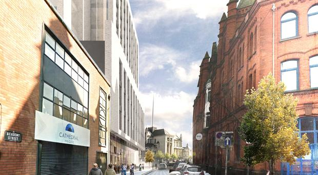 An artist's impression of the new apartments at Academy Street