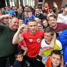 Carl Frampton's supporters could still see their man fight Andres Gutierrez.