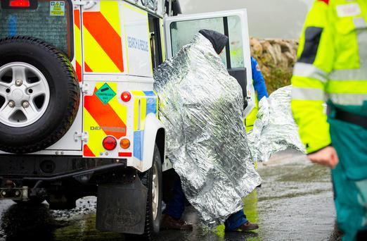 Emergency Services at the scene on an ongoing incident involving a group of involving 70 young people in the Mournes close to the Head Road in Annalong on August 2nd 2017 (Photo by Kevin Scott / Belfast Telegraph)