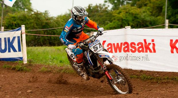 Eyes on the prize: Lisburn's Richard Bird could wrap up the Nutt Travel Premier MX1 Championship series this weekend