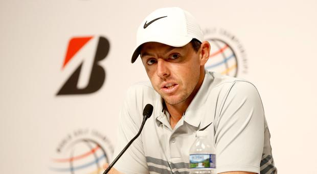 On the mic: Rory McIlroy explains his decision to axe caddie JP Fitzgerald ahead of the WGC-Bridgestone Invitational