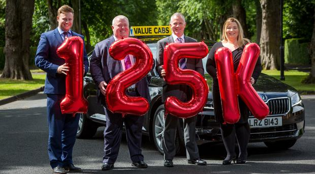 Peter McCausland and Christopher McCausland, Value Cabs, Declan Cunnane, NICHS and Emma McCausland, Value Cabs.