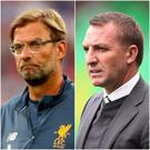 Jurgen Klopp and Brendan Rodgers are both awaiting their teams' fate in Friday's Champions League draw.