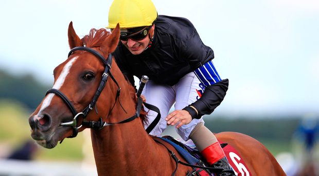 Stradivarius ridden by Andrea Atzeni wins the Qatar Goodwood Cup Stakes on Tuesday at the Goodwood Festival. Photo: John Walton/PA