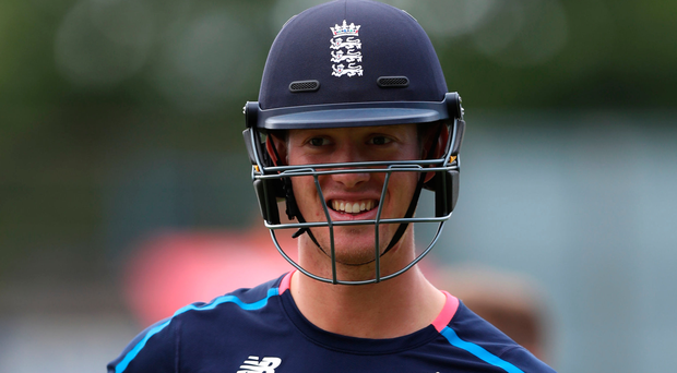 England's Keaton Jennings during the nets session at Old Trafford on Wednesday. Photo: Simon Cooper/PA