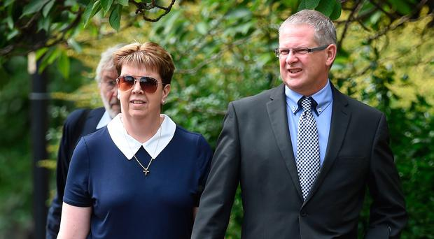 The Very Rev Martin Thrower with wife Pauline at Norwich Crown Court