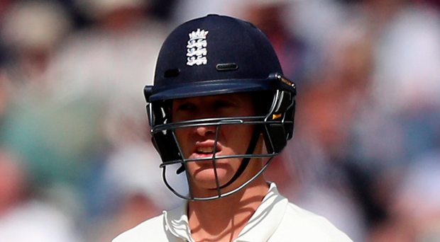 Over and out: Keaton Jennings after being dismissed for 17