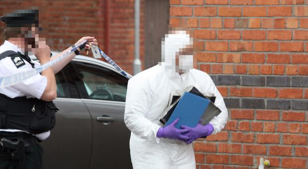 Detectives from Serious Crime Branch have launched a murder investigation following the death of a 45 year old man at a property in the Victoria Street area of Lurgan. Photo by Freddie Parkinson / Press Eye Sunday 6 August 2017