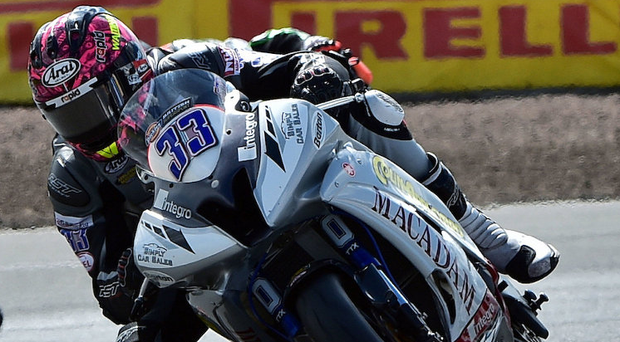 Leading man: Keith Farmer heads Supersport title race after Thruxton victory