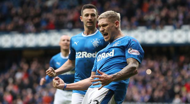 On the move: Martyn Waghorn is poised to leave Rangers and return to England