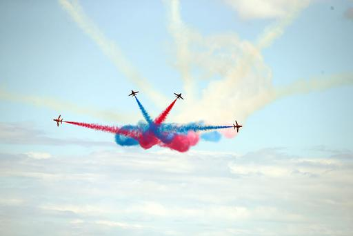 Thousands of visitors look to the skies in Newcastle, Co Down for the annual Festival of Flight.