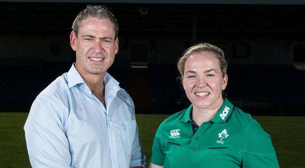Bad timing: Tom Tierney and injured Niamh Briggs
