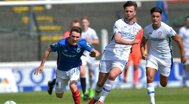 Catching the eye: Paul Smyth is attracting cross-channel clubs, with Crawley Town already bidding £60,000 for the teenager