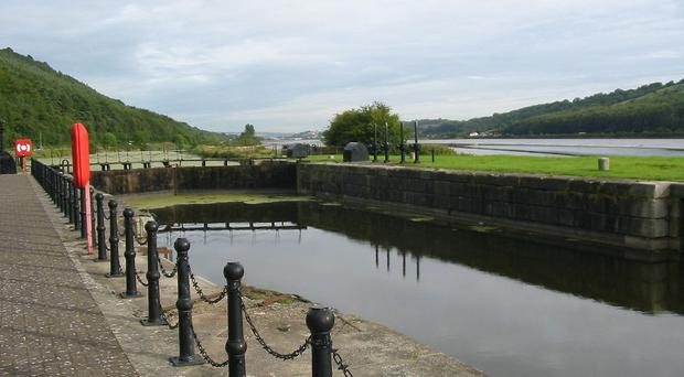 A section of the Newry Canal near to Carlingford Lough