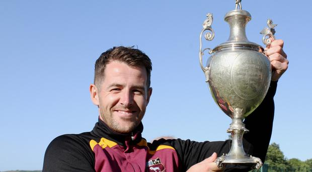 Trophy hunter: Bready's David Scanlon with the North West T20 cup