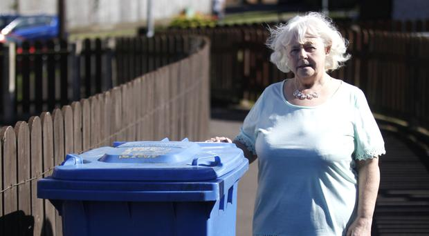 Angry: Margaret Knox from Dundonald who says that she has been having problems with her blue bin being collected despite it being left out