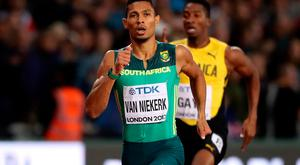 Star: South Africa's Wayde Van Niekerk wins the men's 400m