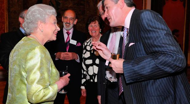 David Anderson with the Queen at Hillsborough Castle in 2008