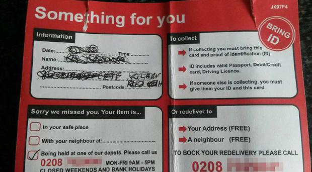 An example of one of the fake 'Something for you' cards