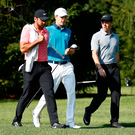 Leading lights: Rory McIlroy (right), Jordan Spieth (centre) and Jason Day are all going for Quail Hollow glory.