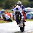 Peter Hickman (1000 BMW) during Wednesday's Superbike Practice