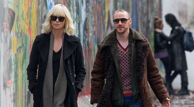 Spy story: Charlize Theron as Lorraine Broughton and James McAvoy as conniving station chief David Percival in Atomic Blonde