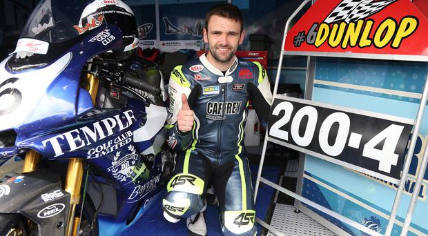 Speed king: William Dunlop broke through the 200mph speed barrier along the Flying Kilo's speed trap for the first time at the UGP. Photo: Stephen Davison