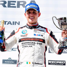Top step: Charlie Eastwood leads the Porsche Carrera Cup series ahead of this weekend's round at Knockhill