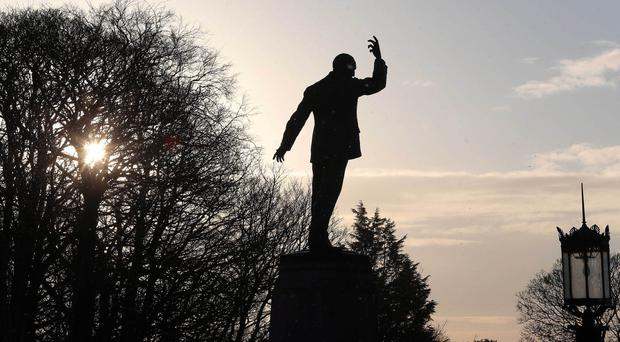 A statue of Sir Edward Carson at Stormont