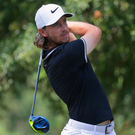 Focused: Tommy Fleetwood in yesterday's opening round. Photo: Streeter Lecka/Getty Images
