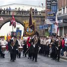 The Apprentice Boys 324th Annual Commemoration makes its way through Ferryquay Gate Derry