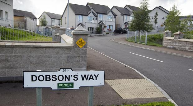 A young boy has died after being struck by a vehicle in Dobsons Way in Bessbrook. © NewRayPics.com 11 Aug 2017 Northern Ireland